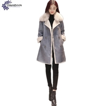 TNLNZHYN New Winter high-end Women clothing Cotton Coat fashion Fur Collar Large size Thicken Warm female Cotton Outerwear