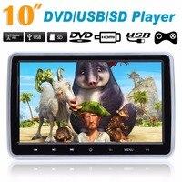 Promotion HDMI 10 HD Digital LCD Screen Car Headrest Monitor DVD Player USB SD Player IR