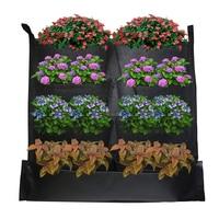 8 карманов садовый растительный мешок для выращивания войлочные вертикальные Висячие водонепроницаемые цветочные горшки корень овощные о...