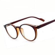 125bf68d3dad0 Retro Vitage Marca Moldura Redonda óculos de Computador Simples Óculos Para Homens  Mulheres Optical Miopia Olho Óculos de Armaçã.