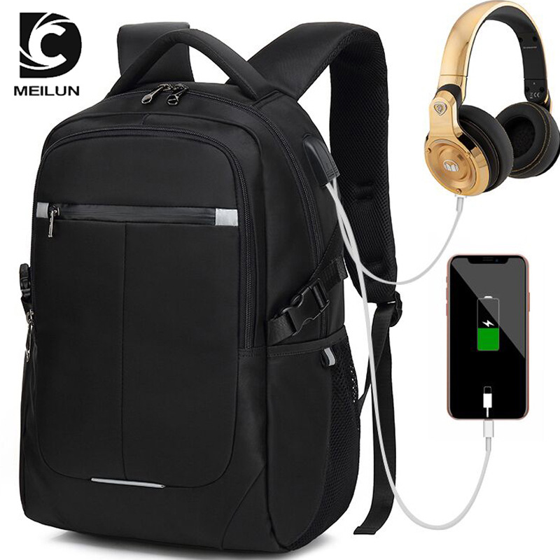 Dutiful Meilun 8806 Large Capacity Travel Backpack Laptop 15.6 Usb Charging Waterproof Men Backpack Notebook Casual Womens Backpack Bag Men's Bags