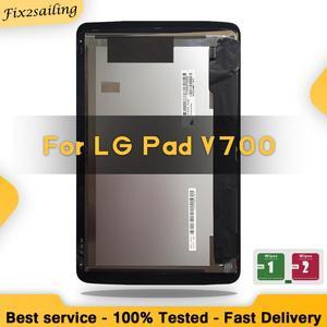 100% testado para lg g pad 10.1 v700 vk700 lcd tela de toque digitador assembléia vidro peças reposição tablet 10.1 tablet'