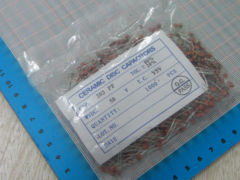 1000pcs/lot High Quality 20NF 203 50V Ceramic dielectric Capacitor 20NF 203 50V dip ceramic capacitors 20NF