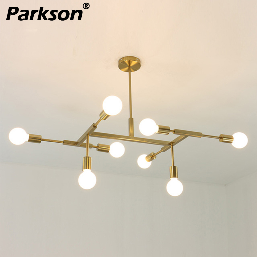 Suspension lampe nordique moderne or chambre salle à manger cuisine hanglampen E27 lampara pour appareils d'éclairage à la maison