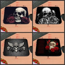 Rose And Cranium Customized Silicon Anti-slip Gaming Mousepad Pc Mouse Pad Mat For Optical Mice Trackball Mouse As A Reward
