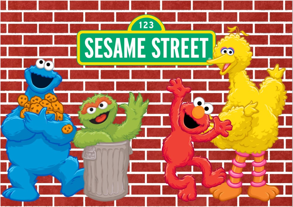 7x5FT Elmo Freak Sesame Street Dard Red Bricks Wall Custom Photo Studio Background Backdrop Vinyl 220cm X 150cm In From Consumer Electronics On