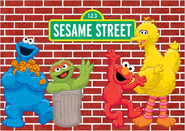 7x5FT Elmo Freak Sesame Street Dard Red Bricks Wall Custom Photo Studio Background Backdrop Vinyl 220cm