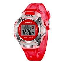 Новые водонепроницаемые детские часы для мальчиков и девочек светодиодный цифровые спортивные часы пластиковые детские повседневные часы с будильником и датой 6 цветов
