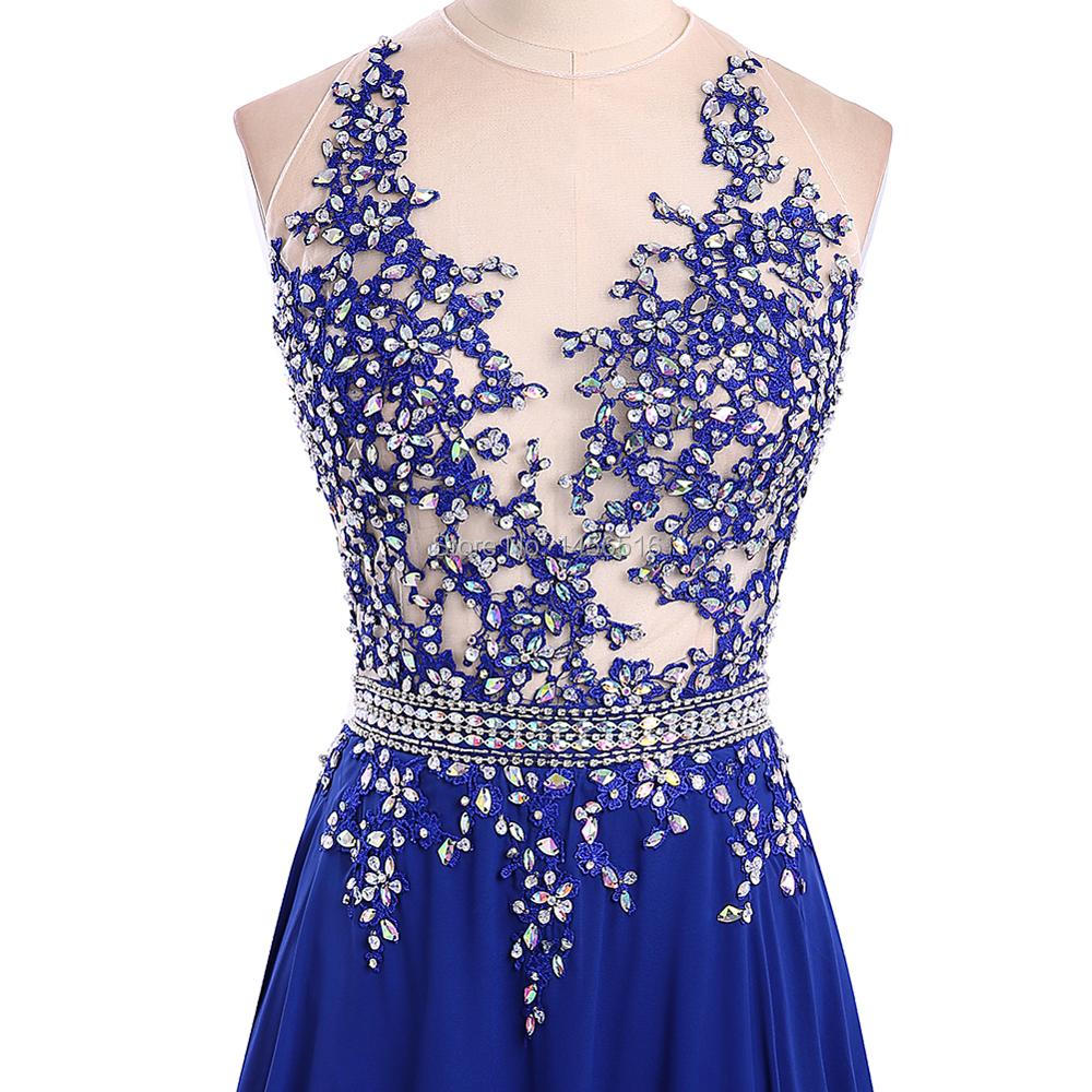 32296debba 1191W Vestido De Festa Longo Sparkly Beaded Royal Blue Long Prom ...