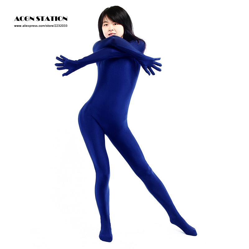 24hrs ship New Cheap Halloween Catsuitt Marine Blue Lycra Spandex Bodysuit Rush order/Same day shipping/24-hour ship-out service