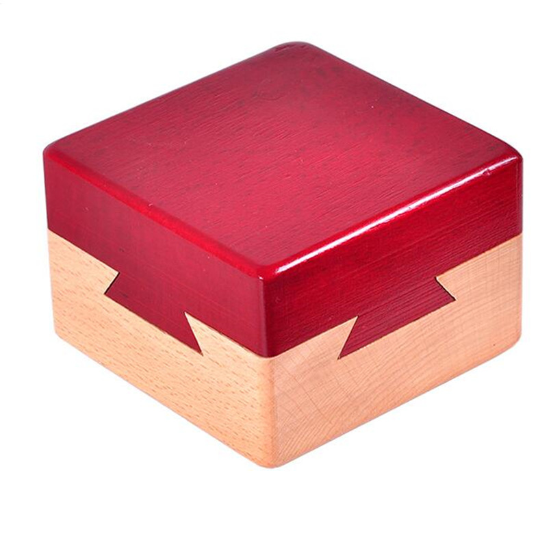 High Quality Wooden Magic Box Puzzle Game Luban Lock  For Children Adult Educational Toys Brain Teaser Game