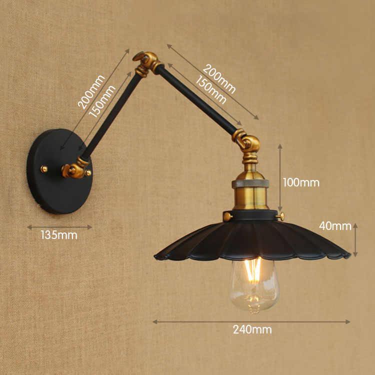 15 см Ретро Лофт промышленный настенный светильник винтажные качели длинные руки Настенные светильники Эдисона настенные бра аппликации муралес светильник
