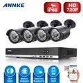 ANNKE 4CH 960 H HD DVR 1080 P NVR Sistema de CCTV 4 pcs 720 P outdoor CCTV de Vigilância De Vídeo Em Casa Câmeras de segurança kit