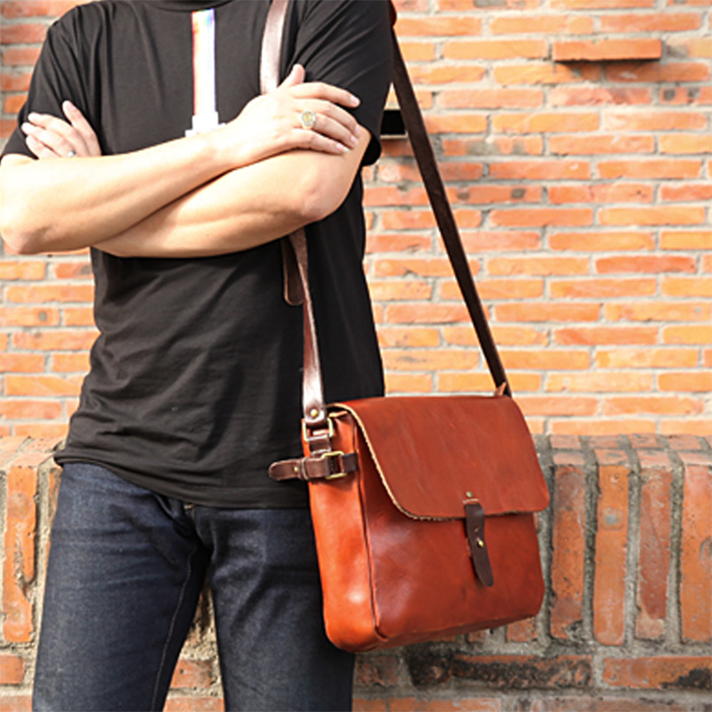 IMIDO genuine leather vintage style messenger bag shoulder bag sling retro fashion bag school bag цена