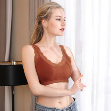 2019 Sexy V-Neck Lace Camisoles Summer Women Tank Tops Padded Bra
