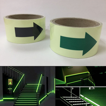 5CMX3M  Photoluminescent tape glow in the dark lasting 4 hours Luminous film for safety