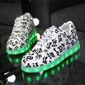 Освещенные Обувь для Взрослых Горячей Продажи 2015 Ботинки Schoenen Светодиодные Светящиеся Обувь Мужчин Повседневная Обувь Chaussures Lumineuses X834 5