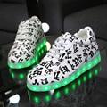 Iluminado Zapatos para Adultos de La Venta Caliente 2015 Zapatos Hombres Zapatos Casuales Chaussures Schuhe Schoenen Led Luminoso Lumineuses X834 5