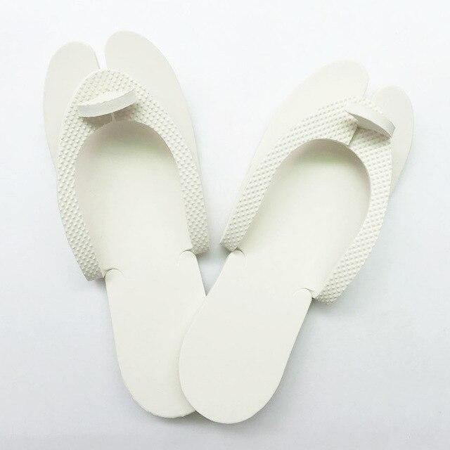 4176fdf96 20pcs set Nail Salon Disposable Foam Pedicure Spa Flip Flop Slippers Sandal  Milky White Color