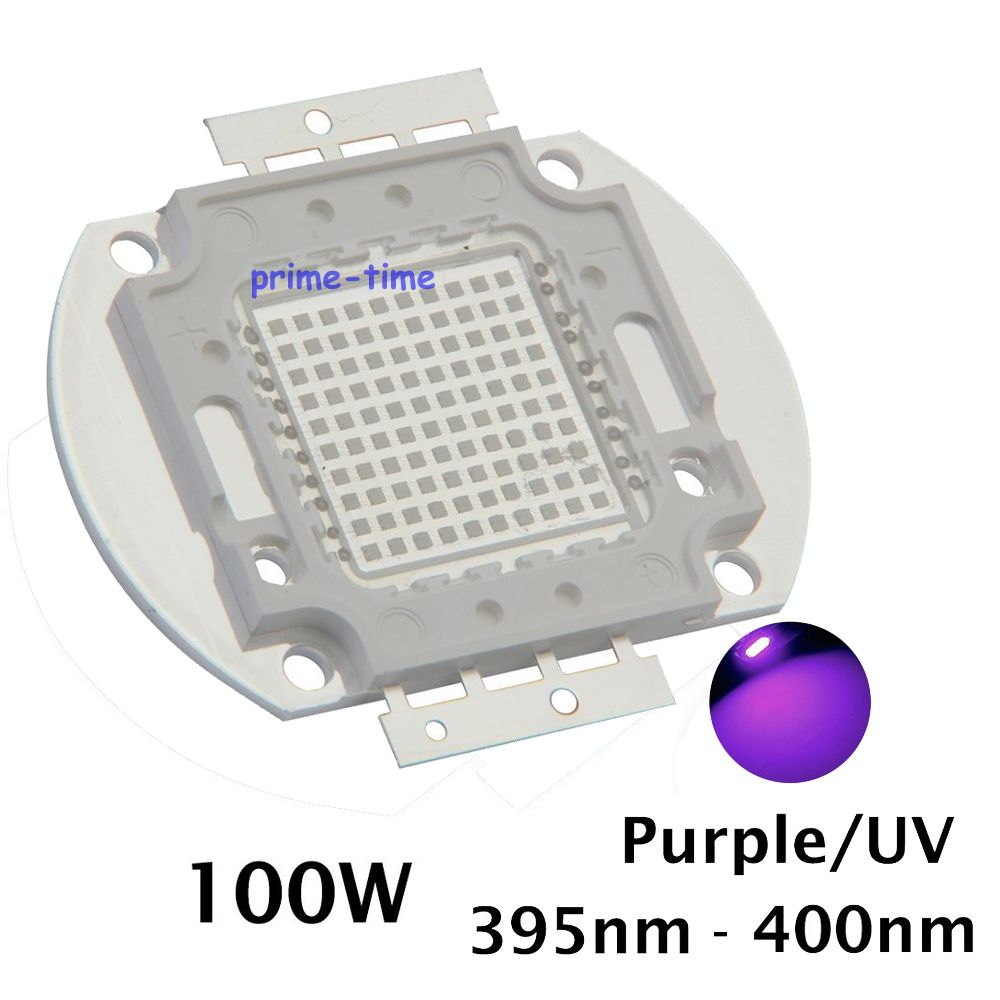 100W  Integrated UV High Power Light Chip Epileds 42Mil 365nm-370NM,380nm-385nm,395-405nm,420nm-425nm DIY COB Light Source 10w 12w ultra violet uv 365nm 380nm 395nm high power led emitting diode on 20mm cooper star pcb