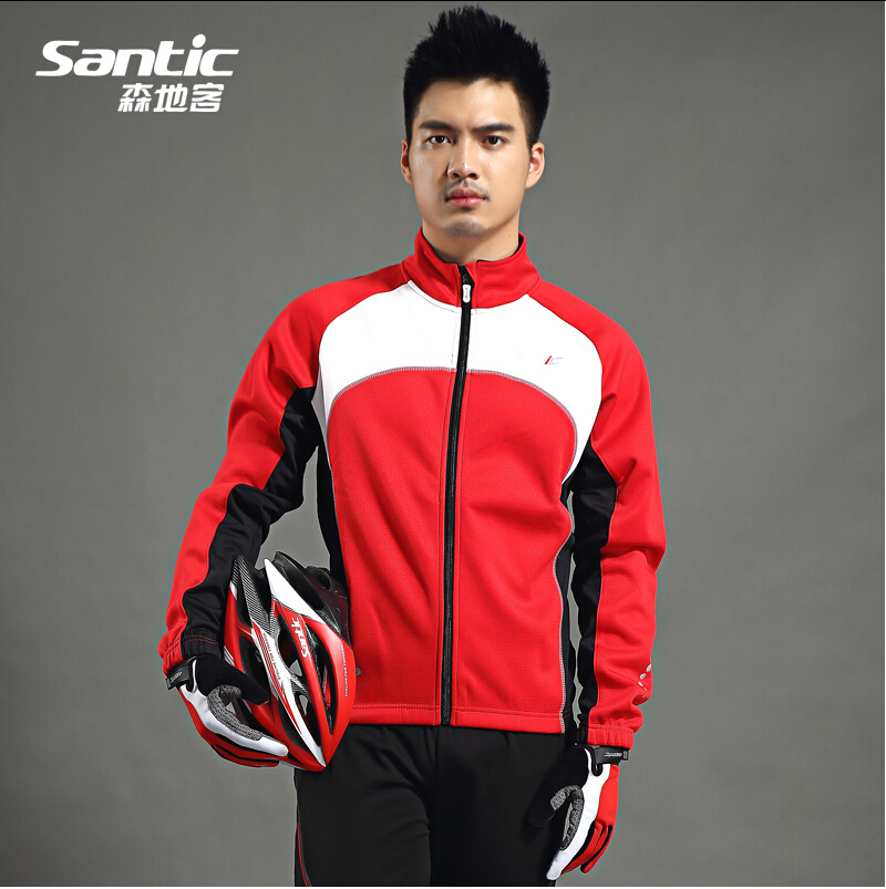 Winter fleece Mountai Cycling jacket jersey long-sleeved Bike Bicycle Team Clothing Cycling Jacket Cycling For Men Santic C01024