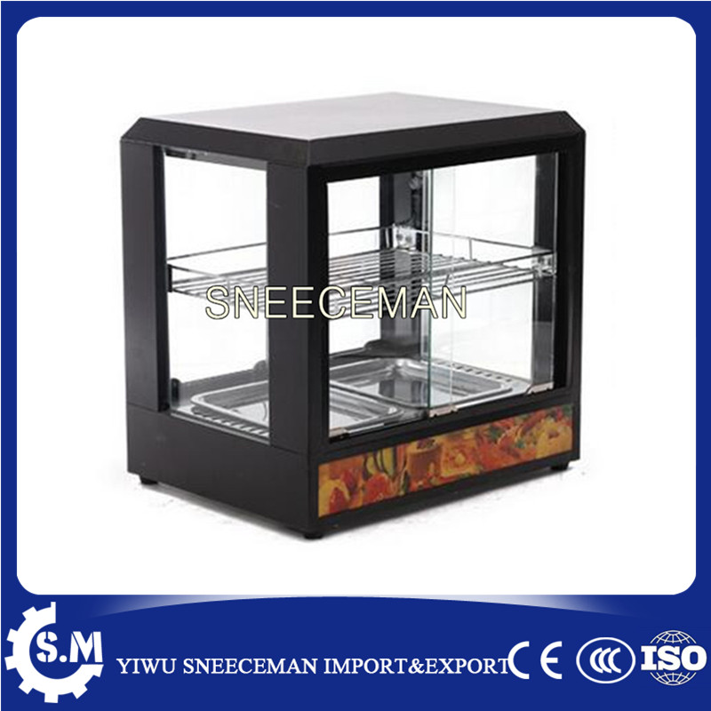 Commercial Warmer Showcase Hot Food display cabinets churro display warmer deluxe stainless steel churro showcase machine with heat food warmer and oil filter tray
