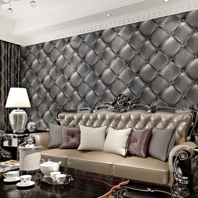 beibehang soft leather bag PVC Wallpapers Wall Paper Papel De Parede ...