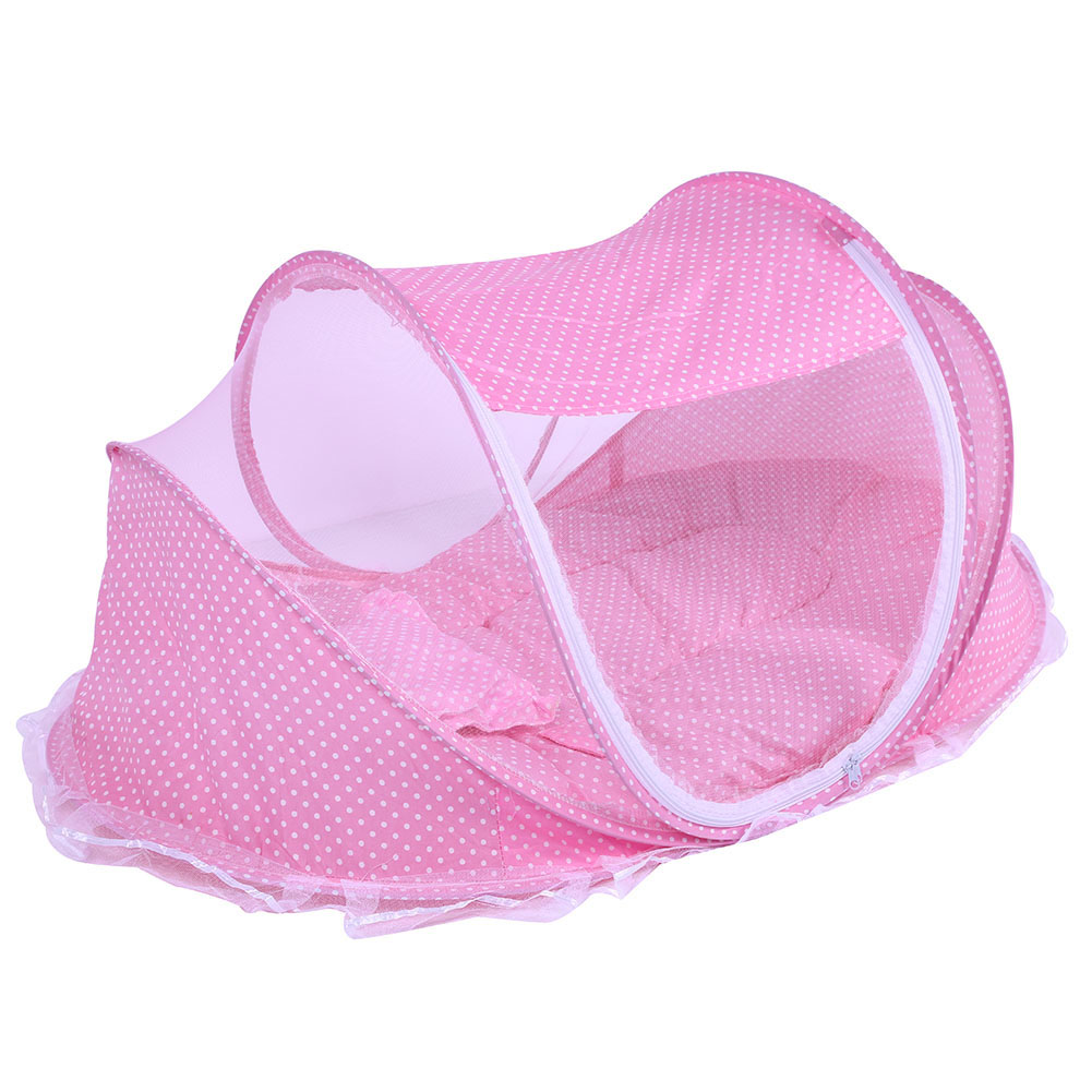 3pcs set Nets Pillow Pad Folding Infant Baby Music Mosquito Nets Bed Mattress Pillow Three piece