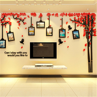 New Creative Photo Tree 3d Three dimensional Acrylic Wall Stickers Living Room Sofa Background Wall Sticker Bedroom Decoration