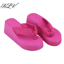 THINKTHENDO Summer Soft Women Wedge Sandals Thong Flip Flops Platform Slippers Beach