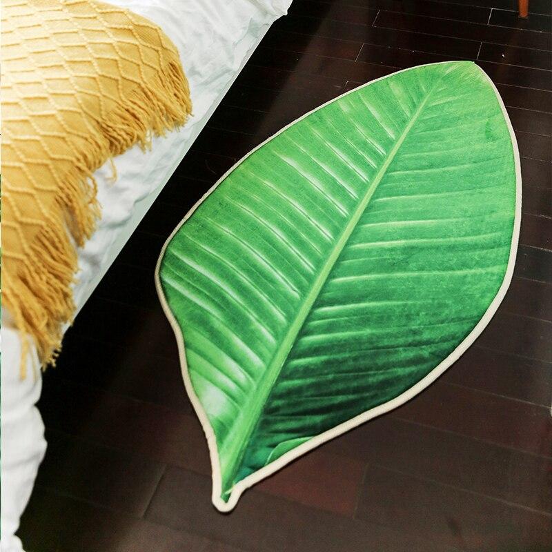 Phrynium Willd 3D Реалистичная зеленый ковер листьев Ковры Дома Спальня Пены anti-коврик Кофе Таблица вход ковер
