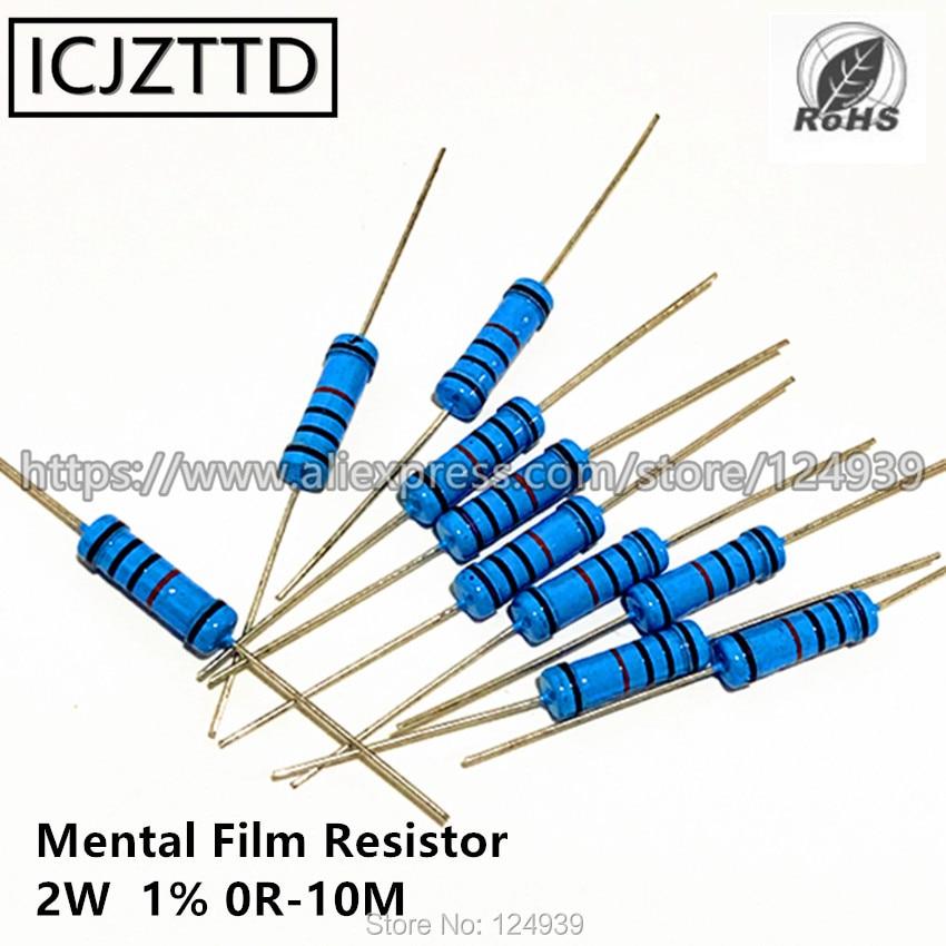 200 штук пакет 2 Вт 1% 2 Вт резистор для умственной пленки 1% 30 к 33 к 36 к 39 к 43 к 47 к 51 к 56 к 62 к 68 к 75 к 82 к 91 к 100 к 120K 150K 180K 200K 220K