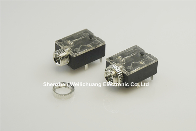 1000pcs screw phone jack 3 5mm 5 pin stereo audio socket for 3 poles  earphone plug through hole dc30v 0 5a
