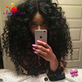180 Heavy Density Hair Synthetic Lace Front Wig With Long Hairline Deep Curl Hair Synthetic Wigs For Black Women In Stock
