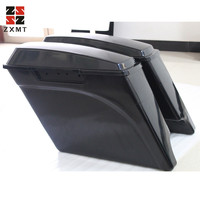 ZXMT Unpainted 5 Stretched Extended Hard Saddlebags For Harley Touring Models 93 13 94 95 12 11 96