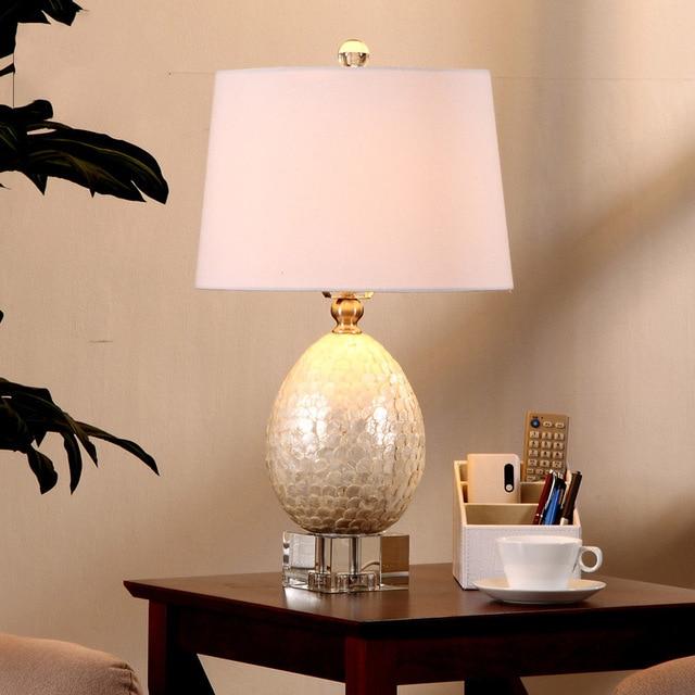 luxe witte vis schalen vorm moderne eenvoudige tafel lampen woonkamer slaapkamer leeslamp bureaulampen e27 houder lamparas