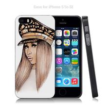 Nicki Minaj Black Plastic Case Cover Shell for iPhone Apple 4 4s 5 5s SE 5c 6 6s 7 Plus