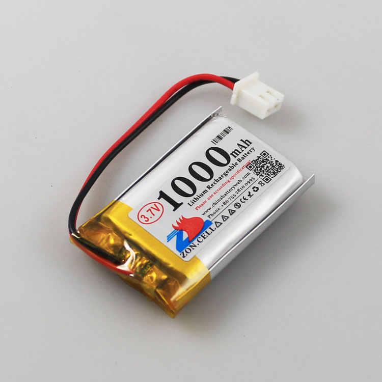 En el núcleo 1000mAh 802540 de litio de 3,7 V, polímero de la batería 852540 código de exploración del instrumento altavoz conducción aparatos recargable Li -io