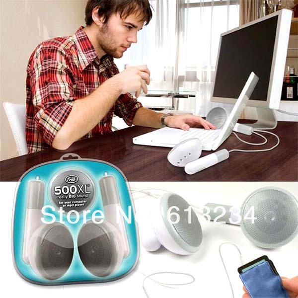Free Shipping 1Piece 500XL Giant Universal Ear-bud Earbud Speaker Desktop 500XL Earbud Speaker