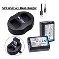 Новый USB Двойной зарядное устройство + 2x NP-FW50 NP FW50 батареи для Sony NEX-5 NEX-7 SLT-A55 A33 A55 A37 A3000 A5000 A5100 A6000 A6300 A7000