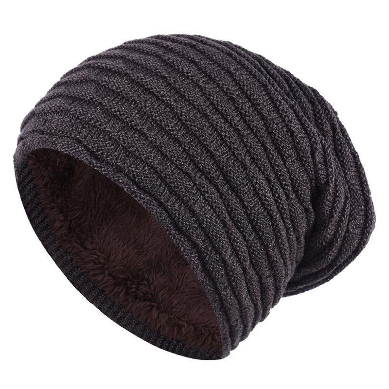 Winter Warm Woolen Knit Hat Outdoor Velvet Knitted Cap   Skullies     Beanies     Beanie   Bonnet Fashion Hats Caps For Women Men Male Cap