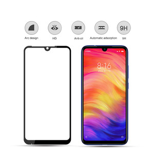 redmi note7 glas tempered glass screen for xiaomi redmi note 7 black protector glass for xiaomi redmi note 7 pro protective film