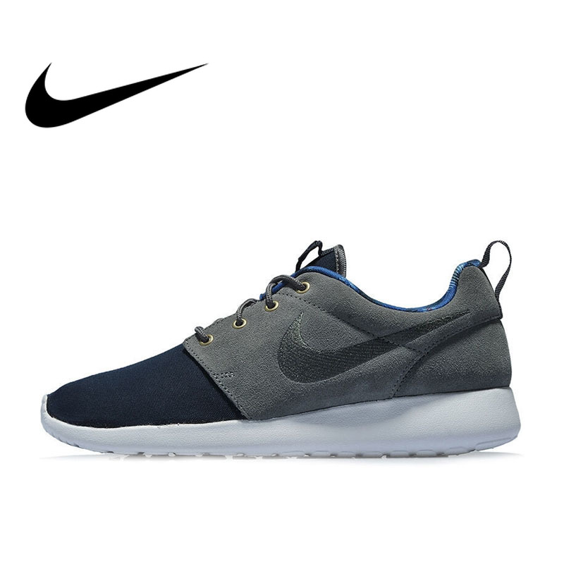 new arrivals ee257 494a6 Original Authentic NIKE ROSHE ONE PREMIUM Men's Breathable Running Shoes  Sports Outdoor Sneakers Comfortable Low-top 525234