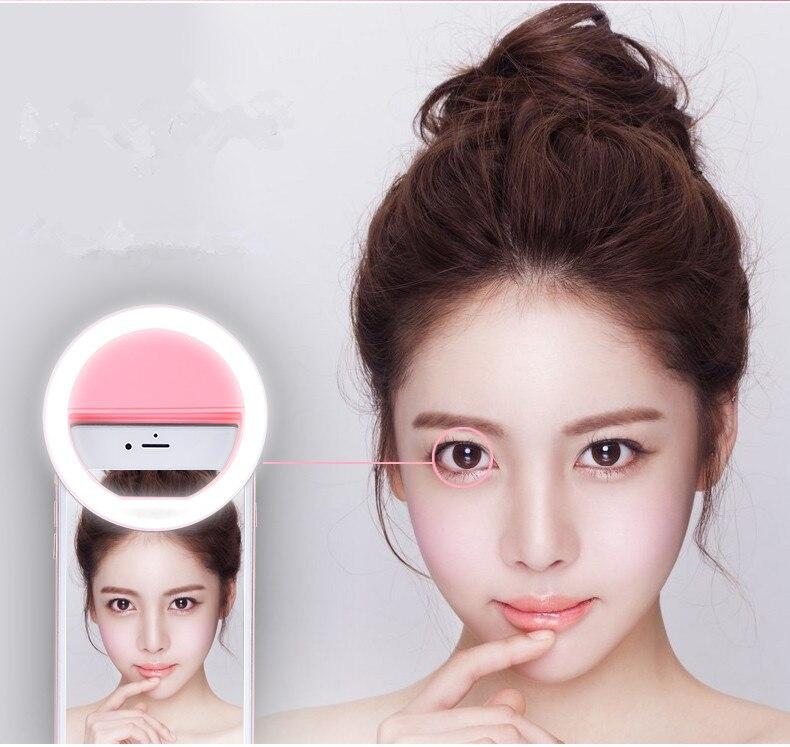 Selfie Portable <font><b>Flash</b></font> Led Camera Phone Ring Light Enhancing Photography for <font><b>Smartphone</b></font> iPhone Samsung Pink White
