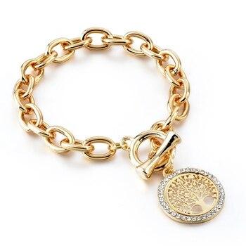 Bracelet Arbre De Vie Or Jaune