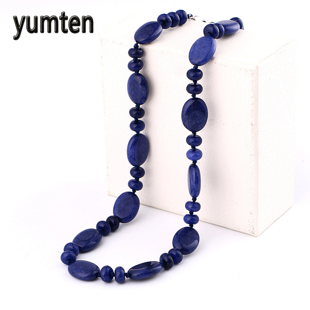 king necklace sterling products silver d jay bead graduated lapis