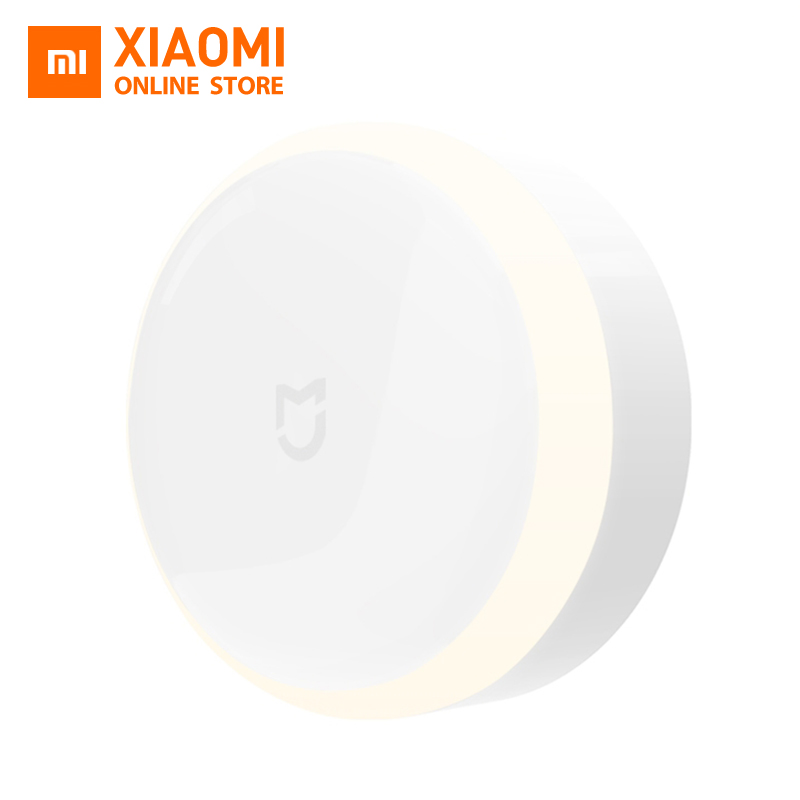 Xiaomi Mijia Sensor Light Photosensitive and Infrared Human Body Sensor Adjustable Brightness Smart Control Install battery rak dinding minimalis diy