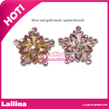 Women Brooches Mixed colors Large Rhinestone Brooch Pins Latest Flower Wedding Dress Vintage Pink Brooches for Women And Men