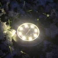4*8LED Solar Power Buried Light Under Ground Lamp Outdoor Path Way Garden Deckin Outdoor Lawn Lamp Solar Lights Sheds & Storage
