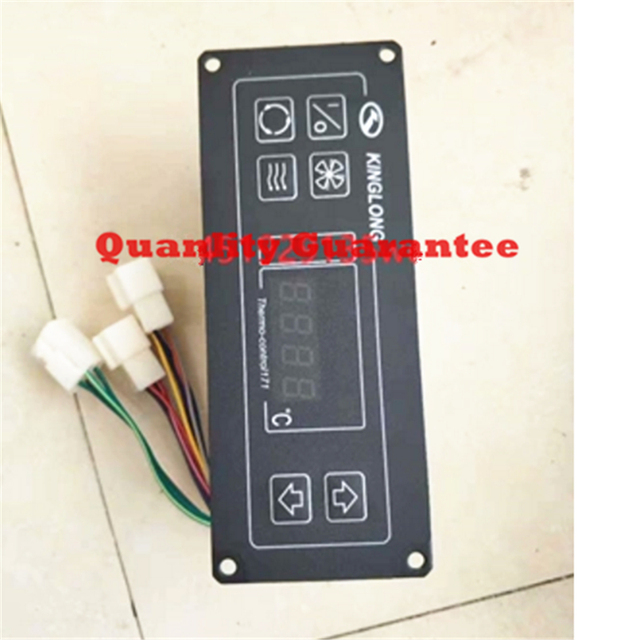US $52 0 |Free shipping Bus Parts Air Conditioner 24V King Long SK 17 1 A/C  Air conditioning system thermo climate control panel 171-in Front & Rear